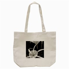 Exotic Black and White Flowers Tote Bag (Cream)