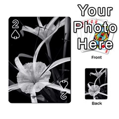 Exotic Black And White Flowers Playing Cards 54 Designs