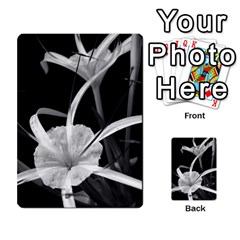 Exotic Black And White Flowers Multi Purpose Cards (rectangle)