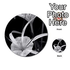 Exotic Black And White Flowers Multi Purpose Cards (round)