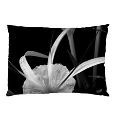 Exotic Black And White Flowers Pillow Cases