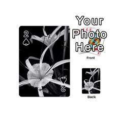 Exotic Black and White Flowers Playing Cards 54 (Mini)