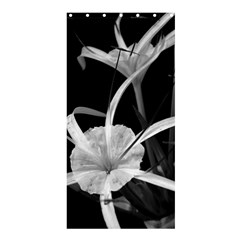 Exotic Black and White Flowers Shower Curtain 36  x 72  (Stall)