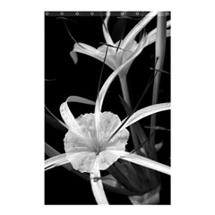 Exotic Black and White Flowers Shower Curtain 48  x 72  (Small)