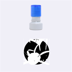 Exotic Black and White Flowers Rubber Round Stamps (Small)