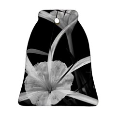 Exotic Black and White Flowers Bell Ornament (2 Sides)