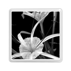 Exotic Black And White Flowers Memory Card Reader (square)