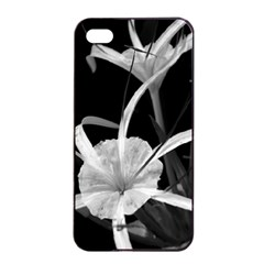 Exotic Black and White Flowers Apple iPhone 4/4s Seamless Case (Black)