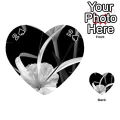 Exotic Black and White Flowers Playing Cards 54 (Heart)