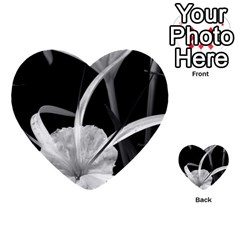 Exotic Black And White Flowers Multi Purpose Cards (heart)