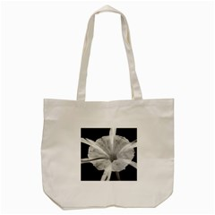 Exotic Black and White Flower 2 Tote Bag (Cream)