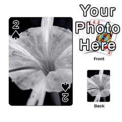 Exotic Black and White Flower 2 Playing Cards 54 Designs