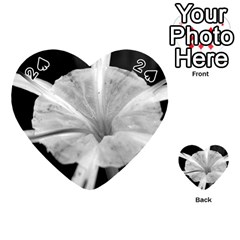 Exotic Black and White Flower 2 Playing Cards 54 (Heart)