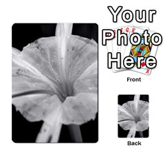 Exotic Black And White Flower 2 Multi Purpose Cards (rectangle)