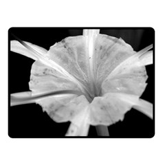 Exotic Black and White Flower 2 Fleece Blanket (Small)