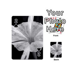Exotic Black and White Flower 2 Playing Cards 54 (Mini)