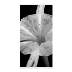 Exotic Black and White Flower 2 Shower Curtain 36  x 72  (Stall)