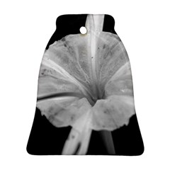 Exotic Black And White Flower 2 Ornament (bell)