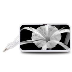 Exotic Black And White Flower 2 Portable Speaker (white)