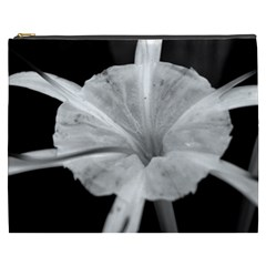 Exotic Black And White Flower 2 Cosmetic Bag (xxxl)