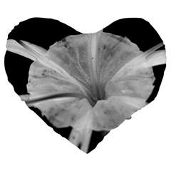 Exotic Black And White Flower 2 Large 19  Premium Heart Shape Cushions