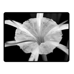 Exotic Black and White Flower 2 Double Sided Fleece Blanket (Small)