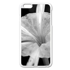Exotic Black And White Flower 2 Apple Iphone 6 Plus Enamel White Case