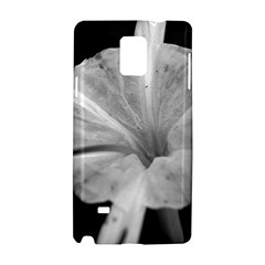 Exotic Black and White Flower 2 Samsung Galaxy Note 4 Hardshell Case