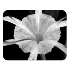 Exotic Black And White Flower 2 Double Sided Flano Blanket (large)