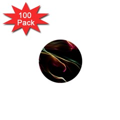 Glowing, Colorful  Abstract Lines 1  Mini Buttons (100 Pack)