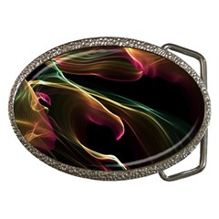 Glowing, Colorful  Abstract Lines Belt Buckles