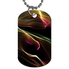 Glowing, Colorful  Abstract Lines Dog Tag (two Sides)