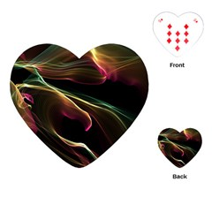 Glowing, Colorful  Abstract Lines Playing Cards (Heart)