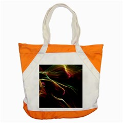 Glowing, Colorful  Abstract Lines Accent Tote Bag