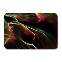 Glowing, Colorful  Abstract Lines Plate Mats