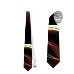 Glowing, Colorful  Abstract Lines Neckties (one Side)