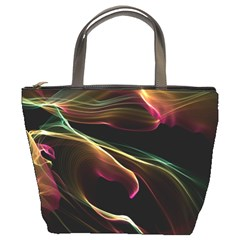 Glowing, Colorful  Abstract Lines Bucket Bags