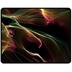 Glowing, Colorful  Abstract Lines Fleece Blanket (medium)