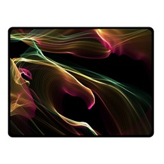 Glowing, Colorful  Abstract Lines Fleece Blanket (Small)
