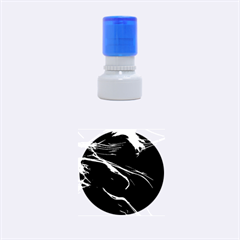 Glowing, Colorful  Abstract Lines Rubber Round Stamps (Small)