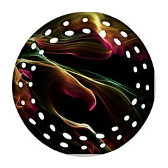 Glowing, Colorful  Abstract Lines Ornament (Round Filigree)