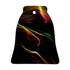 Glowing, Colorful  Abstract Lines Bell Ornament (2 Sides)