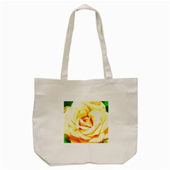 Orange Yellow Rose Tote Bag (Cream)