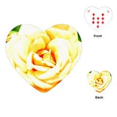 Orange Yellow Rose Playing Cards (Heart)