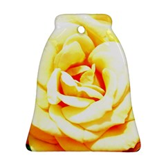 Orange Yellow Rose Bell Ornament (2 Sides)