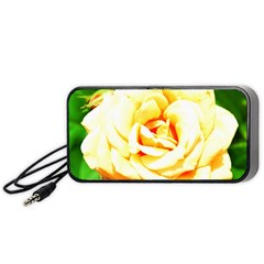 Orange Yellow Rose Portable Speaker (black)