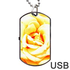 Orange Yellow Rose Dog Tag USB Flash (Two Sides)