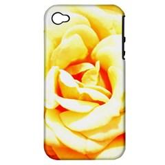 Orange Yellow Rose Apple Iphone 4/4s Hardshell Case (pc+silicone)