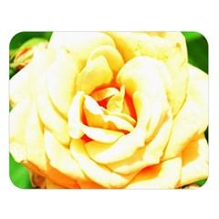 Orange Yellow Rose Double Sided Flano Blanket (Large)
