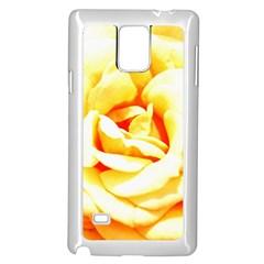Orange Yellow Rose Samsung Galaxy Note 4 Case (White)